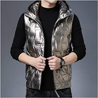Soft Men's Vest Warm Outdoor Padded Puffer Vest Winter Padded Sleeveless Jackets Gilet with Hood Outwear Padded Vest Coats...