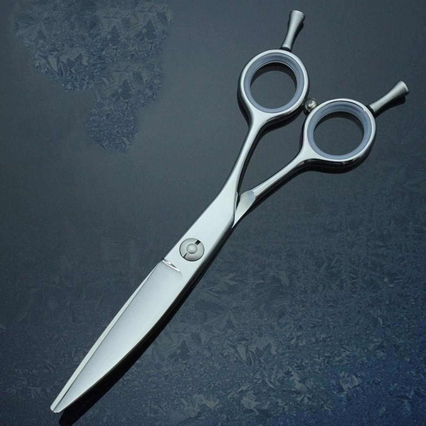 しがみつくクラック生じるMengY 6.0インチの専門の理髪はさみの柳のゆがみの曲がるせん断440C大広間または家の使用 (色 : Silver)