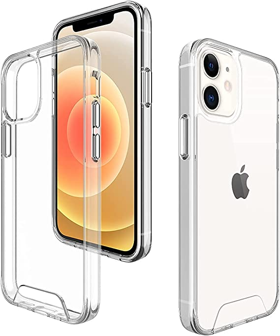 Deucalion Clear Case Designed for iPhone 12 Mini Case (5.4'') [Not Yellowing] [Hard PC Back] [TPU Bumper Airbag] Crystal Transparent Protective Case 5.4 inch - Clear iPhone 12 Mini