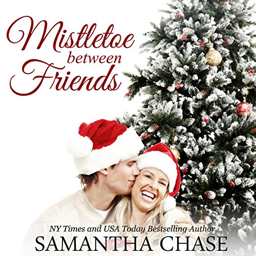 Mistletoe Between Friends audiobook cover art