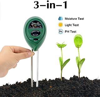 Abafia Bodentester, 3 in 1 Boden Feuchtigkeit und PH, Lichtintensität Bodentester Kein..