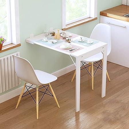 Table Murale Rabattable avec Etagére Intégrée Table Murale Rabattable Suspendue sur Pied étagère, Table à Manger de Cuisine Étagère de Cuisine à Domicile, Économiseur D'espace