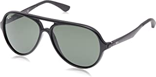 Ray-Ban Men's 0RB4235 Aviator Sunglasses, Black, 57 mm