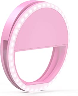 TalkWorks Selfie Ring Light - Small Clip On LED Video Conference Lighting Circle Cell Phone Light Ring for iPhone, Android...