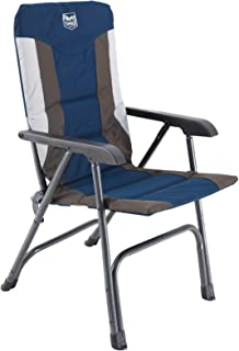TIMBER RIDGE Padded Folding Camping Chair, Lightweight Portable Folding Aluminum Chair, Outdoor Lawn Chair Support 300 LBS...