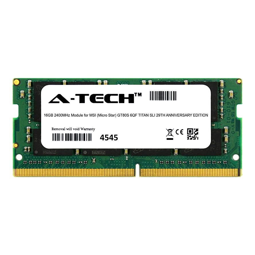 A-Tech 16GB Module for MSI (Micro Star) GT80S 6QF Titan SLI 29TH Anniversary Edition Laptop & Notebook Compatible DDR4 2400Mhz Memory Ram (ATMS367935A25831X1)
