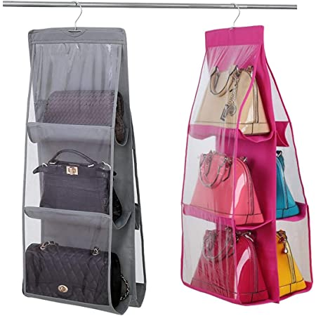 8-Fach Kleiderschrank Hängetasche Organizer Handtasche Geldbörse Lagerung