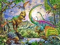 ダイヤモンド刺繡恐竜ダイヤモンド絵画ラインストーンの漫画の絵モザイクアートビーズ絵キット壁の装飾