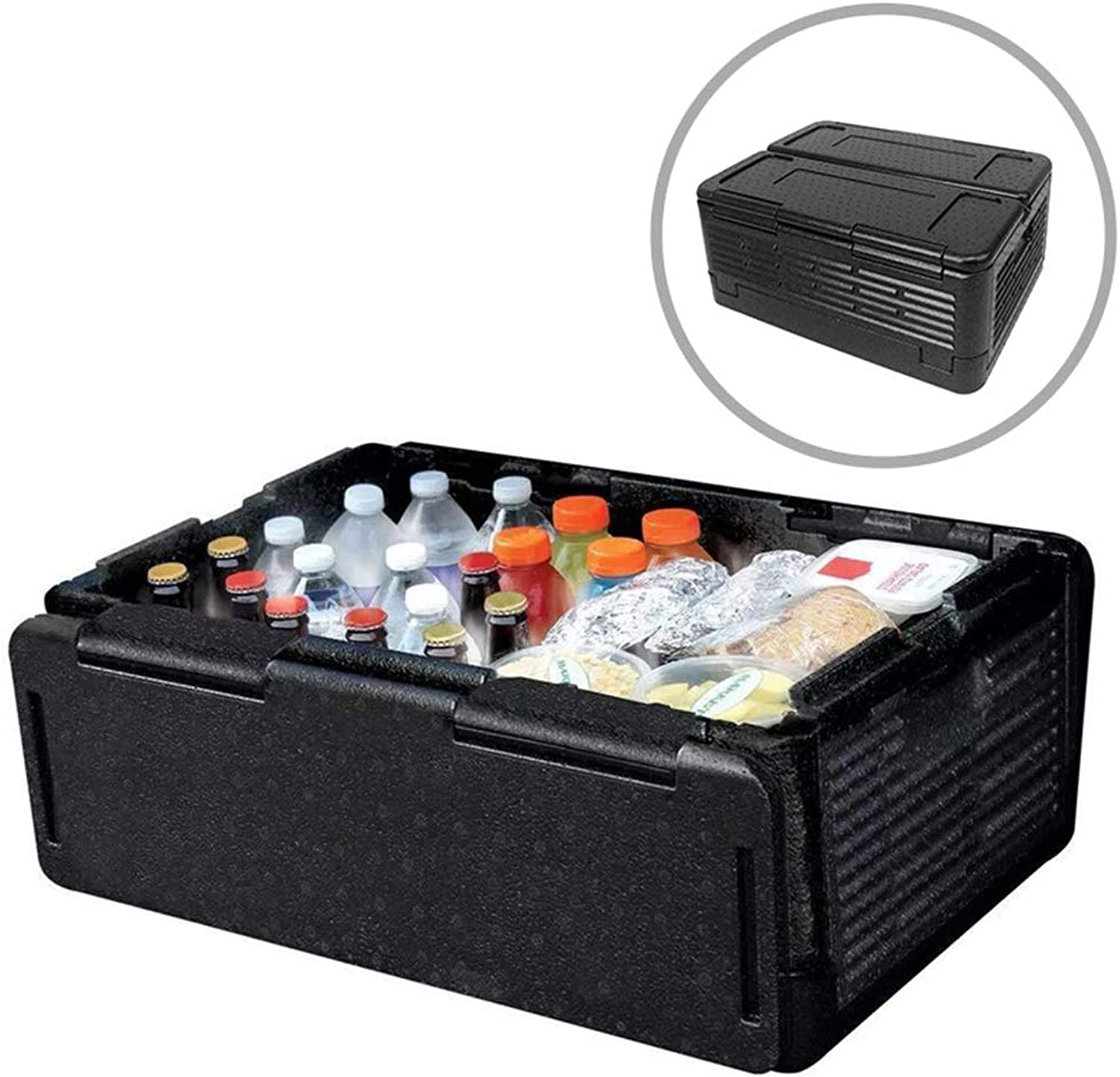 Insulated Cooler Box 24L 60L Collapsible Lightweight Car Trunk Organizer and Storage Box for Groceries, Parties, Picnics, Camping