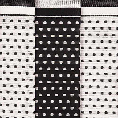 Ross 3er Pack Baumwoll-Geschirrtücher Points 1731 schwarz 50x70 cm