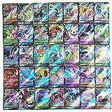 100pcs Pokemon Cards, Cartas Pokemon Originales Español, Cartas Pokemon Vmax,Juego de Tarjetas de Pokémon,Colección de Cartas Raras Barajas de Regalo Juego de Cartas coleccionables para niños
