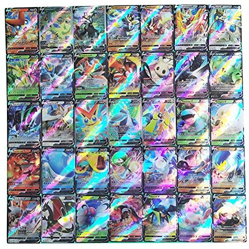 100pcs Pokemón Cards, Cartas Pokemón Originales Español, Cartas Pokemón Vmax,Juego de Tarjetas de Pokémon,Colección de Cartas Raras Barajas de Regalo Juego de Cartas coleccionables para niños
