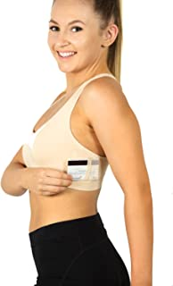 Racer-Back Bamboo Handee Bra, Comfortable Very Soft, Wire-Free with Pockets Leisure Travel