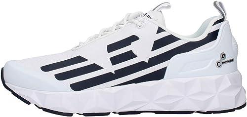 Emporio armani sneakers con lacci in tessuto, uomo X8X033XCC52B139