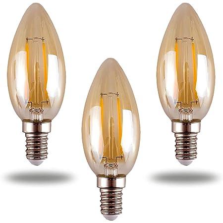 Filament Decorative E14 Warm Light Industrial C35 Bulb Edison LED Vintage Amber