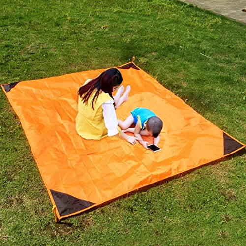 chinawh Isomatte bewegliches im Freien Nylon Isomatte wasserdichte Faltbare Rasen Strand Feuchtraum-Matte Größe: 140 * 152cm zufällige Farbe Lieferung