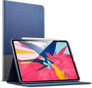 ESR iPad Pro 11 ケース Apple Pencil2のペアリングとワイヤレス充電対応 iPad Pro 11 カバー レザー 合皮 スリムフィット シンプル 手帳型 スエード柔らかな内側 スタンド機能 オートスリープ 傷つけ防止 二つ折 2018年秋発売のiPad Pro 11インチ専用(灰紺)