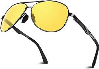CGID GA61 Premium Al-Mg Alloy Pilot Polarised Sunglasses for Men Women UV400 with Spring Hinges,CE