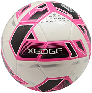 XEDGE Official Size Soccer Ball,Size 5 Training Ball for Girls,Boys,Youth Teenagers,Adults,Machine Stitched for Indoor Outdoor Play