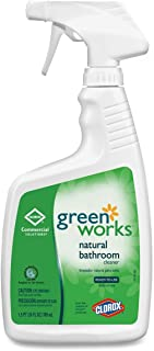 Green Works 00452CT Bathroom Cleaner, 24oz Spray Bottle (Case of 12 bottles)