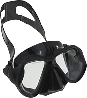 """Navitech Black Dive Scuba Diving Mask with Mount Compatible with The Muson 4K WiFi Action Camera 2.0"""" Screen"""