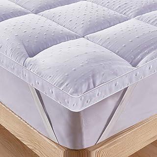 comprar comparacion Bedecor Colchoncillos,Microfibra Almohadilla de colchón,Suave,Cosida,hipoalergénico,Calidad de Hotel,Blanco -140 x 200 cm