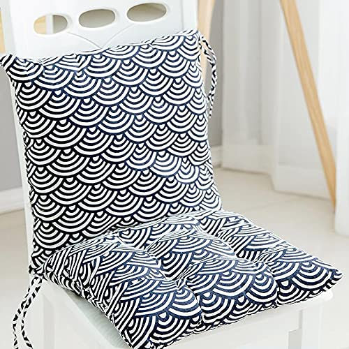 Taijun Stuhlkissen 100% Baumwolle Kissen Stuhlkissen Butt Kissen Hocker Sessel Kissen Quadratisches Kissen Stuhlkissen Tatami Matte Indoor oder Outdoor oder Büro (2er Set)