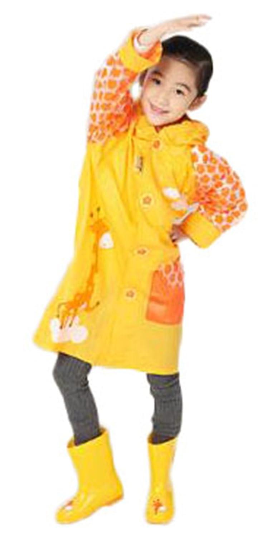 TENGDA レインコート レインウェア 雨具 全六色 子供服 キッズ 男の子 女の子 ポンチョ 軽量 ゆったり カッパ 取り外し 防水 袖付き