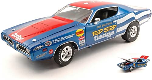Autoworld Auto World AW224 Dodge Charger SUPER BEE 1971 1 18 MODELLINO DIE CAST Model kompatibel mit