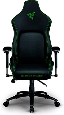 Razer Iskur Gaming-Chair: Ergonomic Lumbar Support System - Multi-Layered Synthetic Leather Foam Cushions - Engineered to Carry - Memory Foam Head Cushion
