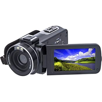 Amazon Com Video Camera Camcorder Sosun Hd 1080p 24 0mp 3 0 Inch Lcd 270 Degrees Rotatable Screen 16x Digital Zoom Camera Recorder And 2 Batteries 301s Plus 301am Camera Photo