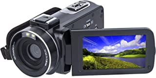 SOSUN HD 1080P 24.0MP 3 Inch LCD 270 Degrees Rotatable Screen 16X Digital Zoom Video Camcorder Camera Recorder 2 Batteries