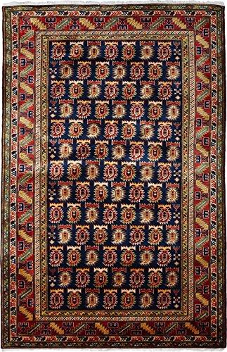 Solo Rugs Shirvan Teppich, handgeknüpft, ca. 91 x 183 cm, Rot