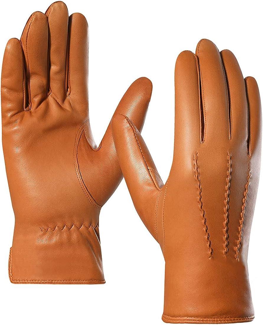 Harssidanzar Ranking TOP17 Leather Gloves for Gl Sheepskin Men Seattle Mall Driving
