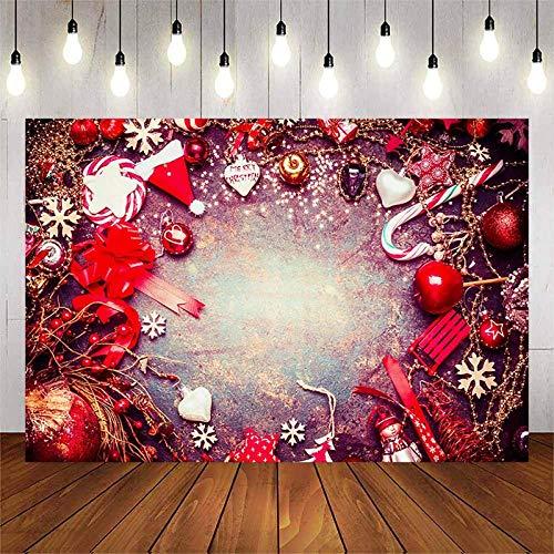 Hintergrund für FotografieWeihnachten Schneeflocke Weihnachtsmütze Vinyl Cartoon Photo Studio Requisiten Party Dekoration Foto Hintergrund Geburtstag Party Hintergrund 7x5Ft Photo Banner