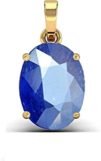 ArenaGems 5.0 Carat Natural Yellow Sapphire Pendant/Locket (Pukhraj Stone Panchadhatu Pendant) 100% Original AAA Quality Gemstone