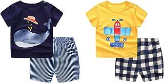 Baby T-Shirt Newborn Infant Baby Boy's Short-Sleeve Short...