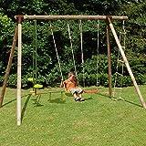 Soulet Grand portique en Bois pour Enfant 5 agrès - Hibiscus