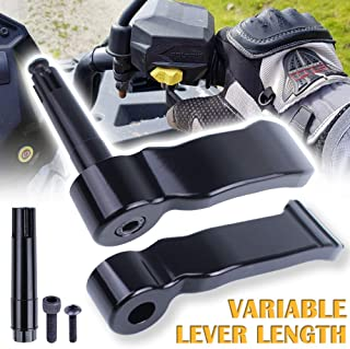 UNIGT Adjustable Thumb Throttle Lever Replacement for Polaris Scrambler Sportsman 550/570/850/1000 2009-2019 Aluminum #2010336/2010359