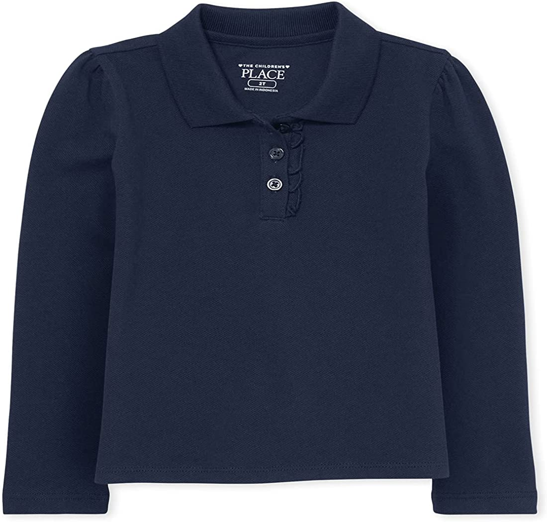 1 year warranty The Children's Max 56% OFF Place Toddler Girls Long Pique Polo Sleeve Ruffle