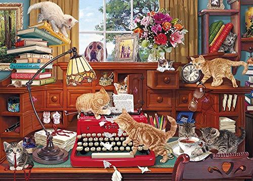 Yzqxiongtu Schrijver blok puzzel speelgoed 1000 stuks, houten entertainment puzzel, volwassen kinderen educatief puzzel speelgoed