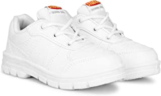 STUDENT Kid's Boys Girls Formal White Comfortable Soft Breathable Antiskid Laced Up Gola Formal School Shoes