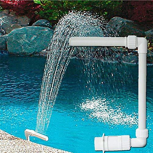 Deyan Wasser Spay Wasserfall Schwimmbad Wasserfall Brunnen Kit PVC Feature Wasser Spay Pools Spa für Schwimmbad Dekorationen
