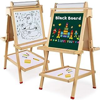 comprar comparacion Arkmiido Pizarra Infantil 4 En 1,Caballetes para niños,Tablero de Dibujo magnético de Doble Cara Pizarra con Eje de Carret...