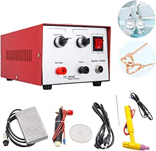Jewelry Welding Machine 200W 30A Pulse Sparkle Spot Welder Laser Pulse High Power Gold Silver Platinum Palladium Necklace Ring Jewelry Spot Welder Moulding Tools (Red)