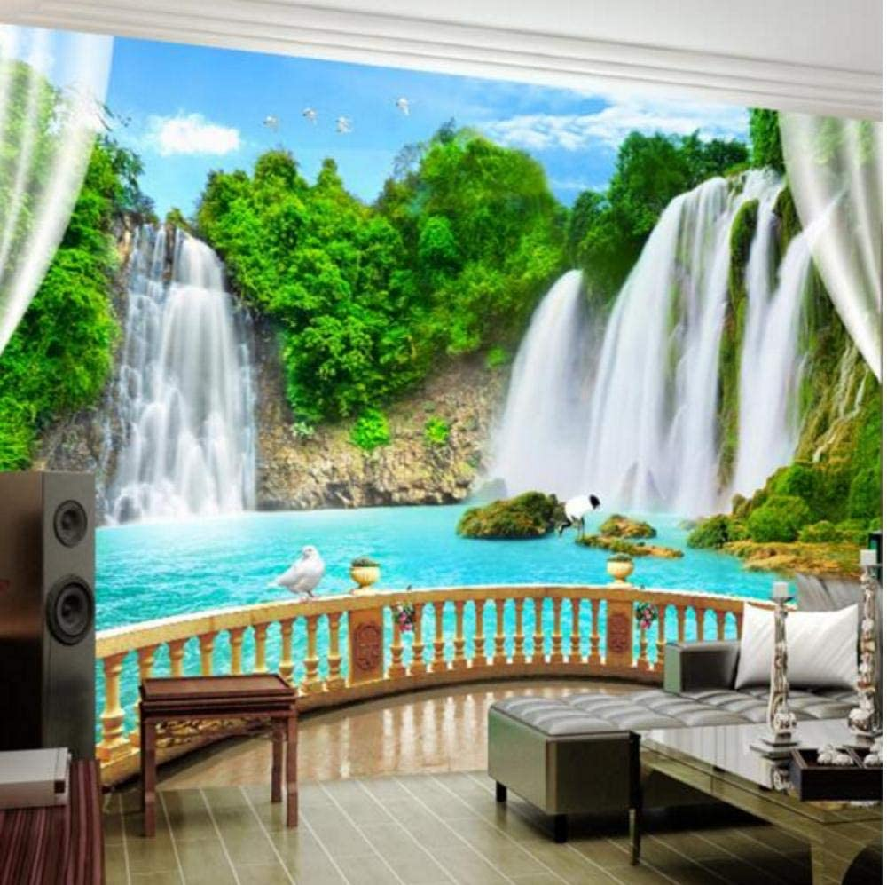 Photo Wallpaper 3D Stereo Inventory cleanup selling Excellent sale Waterfalls Nature Liv Murals Landscape