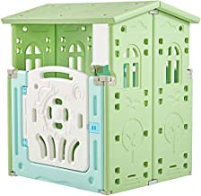 Albott Child Playhouse Cape Cottage Plastic Toddler Game Play House, Indoor & Outside Cabin House, Children Playset Toys(G...