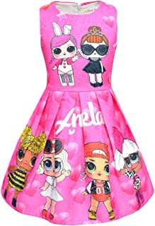 HengQiao Beauty UPSTONE LOL Dress Clothing for Girls| Pink Princess Dress for LOL Birthday Princess Outfit …