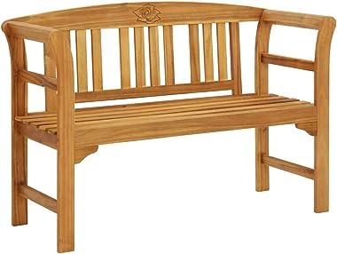 vidaXL Solid Acacia Wood Garden Bench Wooden Outdoor Patio Balcony Seating Seat Sitting Furniture Entryway Hallway Bench Chai