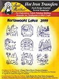 Northwoods Lodge Aunt Martha's Hot Iron Embroidery Transfer